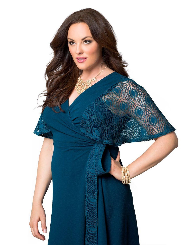 Kiyonna Womens Plus Size Captivating Crochet Wrap Dress Amazon