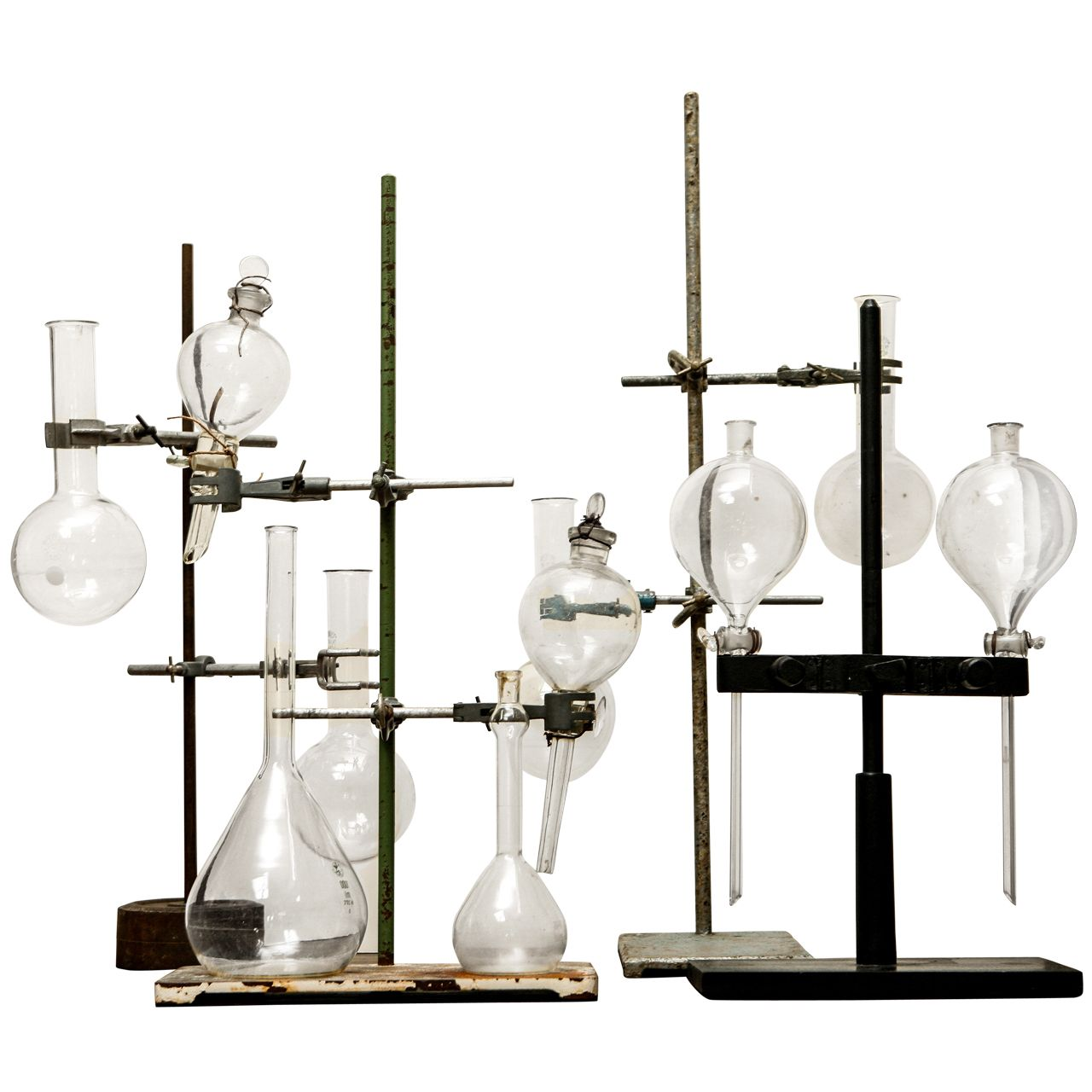 Collection Or Singles Of Glass Beakers On Stands Ca