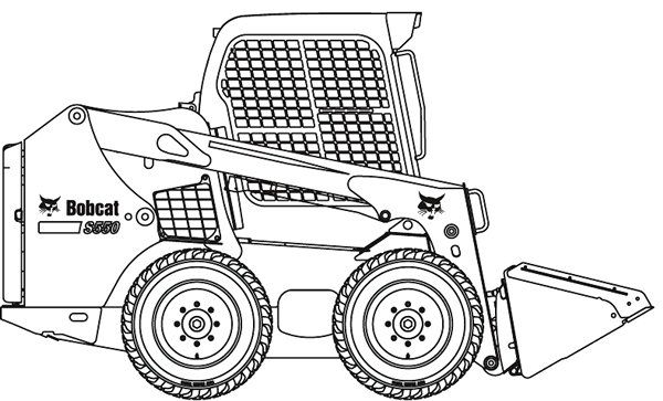 Bobcat Skid Steer Coloring Pages Coloring Pages