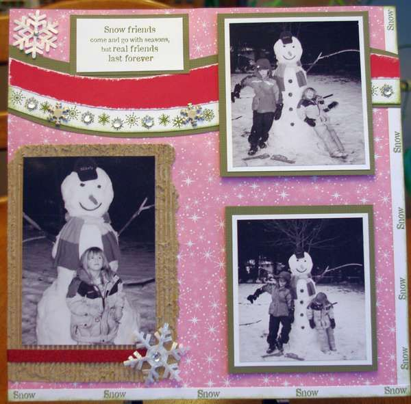 Trix66's Gallery: SNOWFRIENDS Right page using CTMH Jingle paper