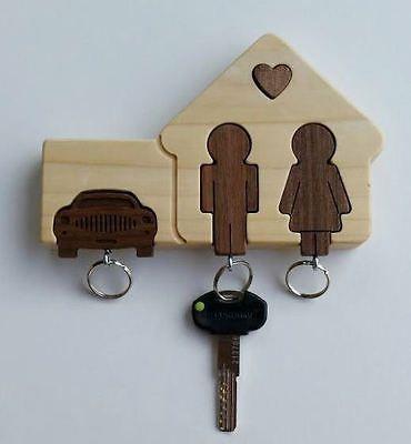 Appendichiavi da parete bacheca portachiavi legno nuovo in for Bricolage per la casa