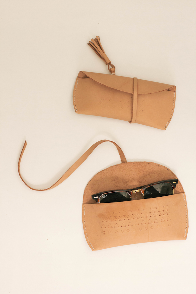 DIY Leather Sunglasses Case   @courtney_weston