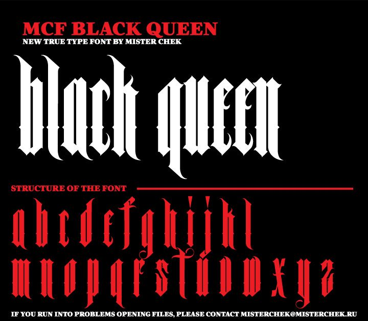 MCF_Black_Queen font by MisterChek on deviantART