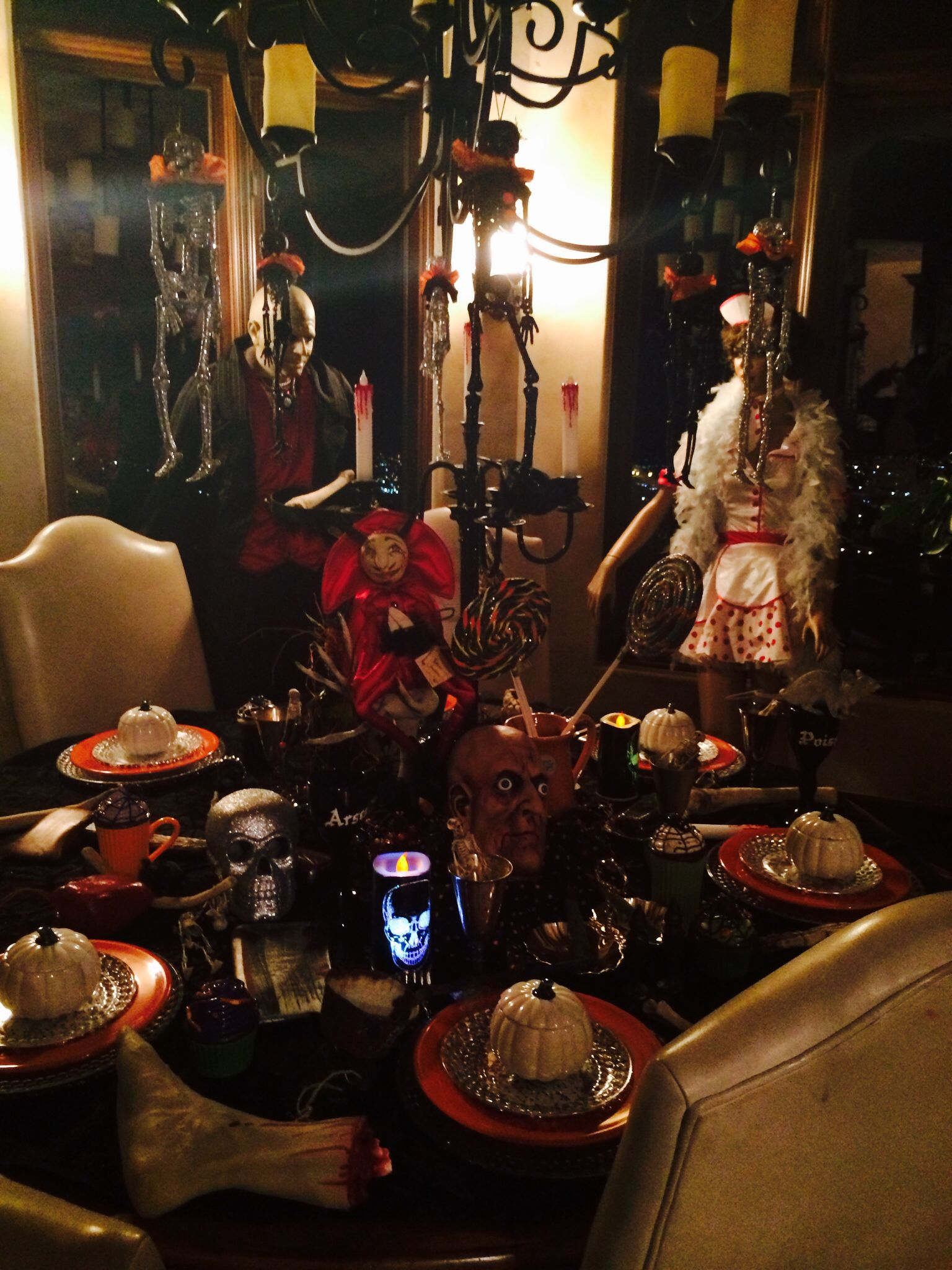 Halloween dining table halloween decorations dining