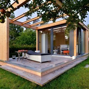 Bildergebnis f r gartenhaus modern garten pinterest for Wochenendhaus modern bauen