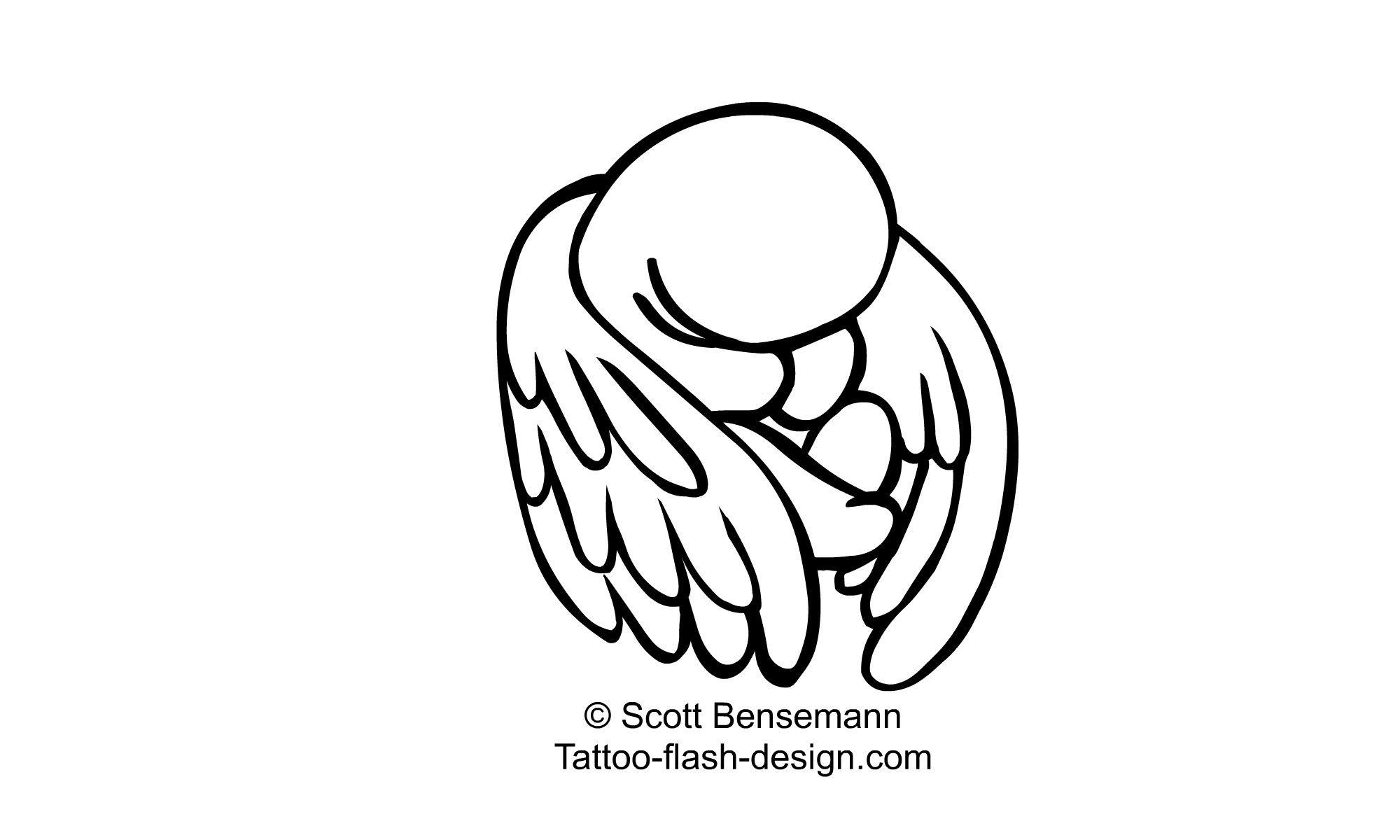 Image Result For Tattoo Flash Design Wp Content Uploads 09 Angel Baby