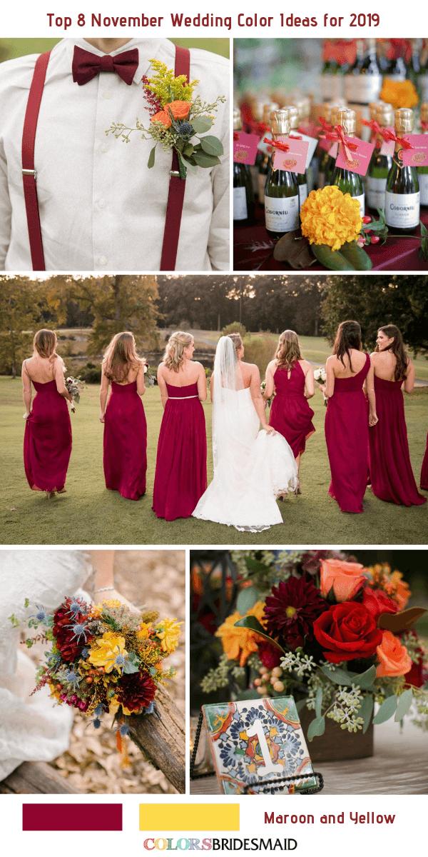 Top 8 November Wedding Color Ideas for 2019 November