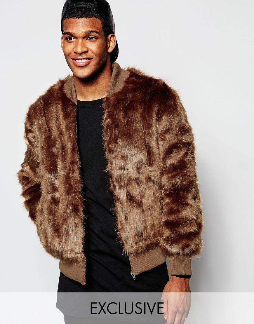The New County Faux Fur Bomber Jacket | Things to Wear | Pinterest ...
