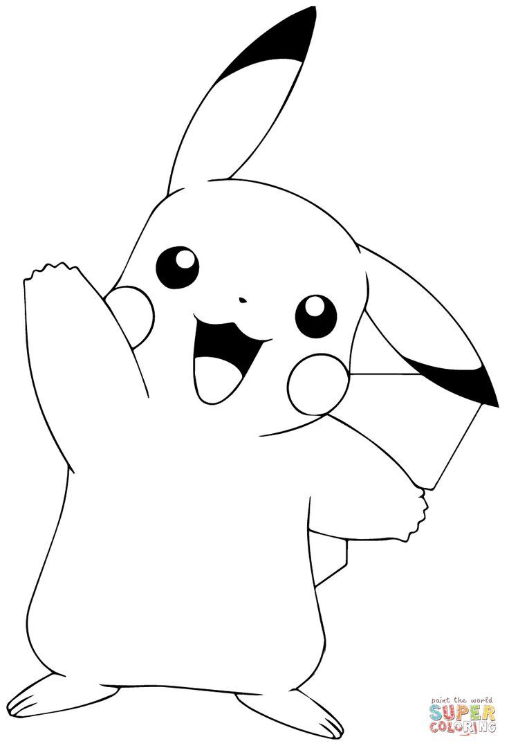 Pokemon Go Pikachu Waving Super Coloration Dibujos Para Colorear Pokemon Picachu Dibujo Libros Para Pintar