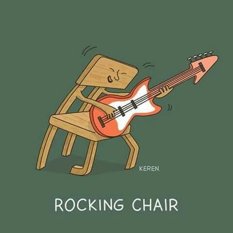 Rocking Chair Pun Funny Illustration Funny Doodles Cute Puns