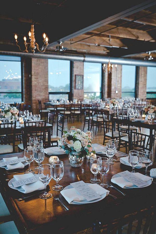 15 Stunning Indoor Wedding Venues | Loft wedding reception ...