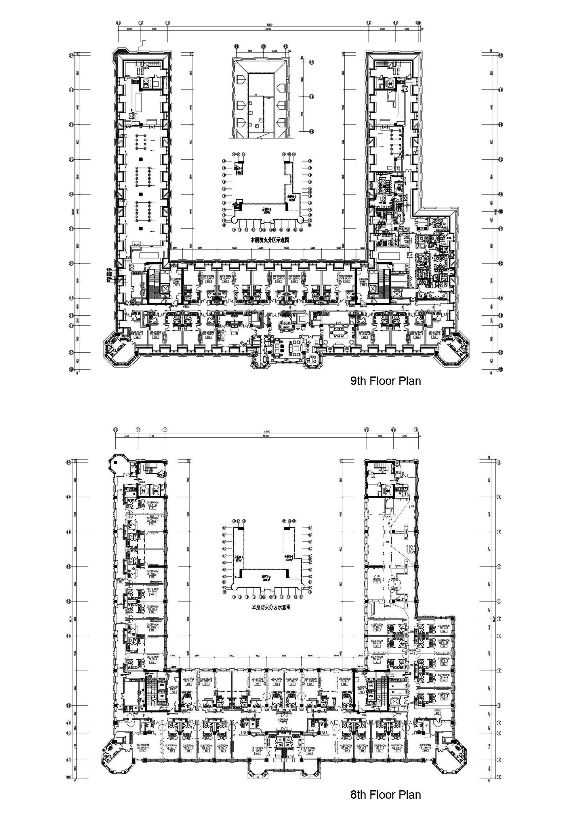 The Ritz Carlton Tianjin 8th 9th Floor Plan Hotel Floor Plan Hotel Floor Floor Plans