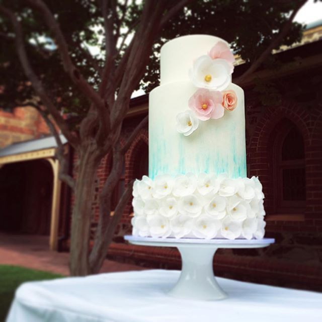 Spring joy xx Watercolour wedding cake studded with wafer paper flowers for the lovely Harmon & Corinda. Congrats to the sweet couple! @sugarsugar_cakes #adelaidecakes #weddingcakes #waferpaperflowers #safood #adelaideweddings #adelaideweddingcakes #watercolour #acdnmember #membershare