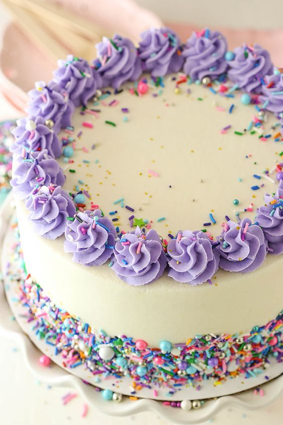 The Best Vanilla Layer Cake With Vanilla Frosting Easy Recipe Recipe Vanilla Layer Cake Recipe Fluffy Vanilla Cake Recipe Moist Vanilla Cake
