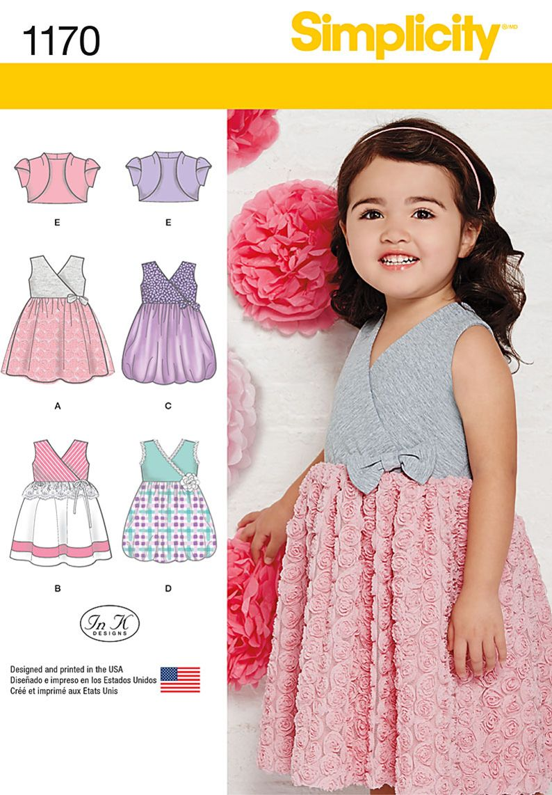 Simplicity Creative Group - Toddlers\' Dress with Knit Bodice and ...