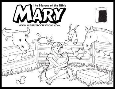 The Heroes Of The Bible Coloring Pages Mary Luke 2