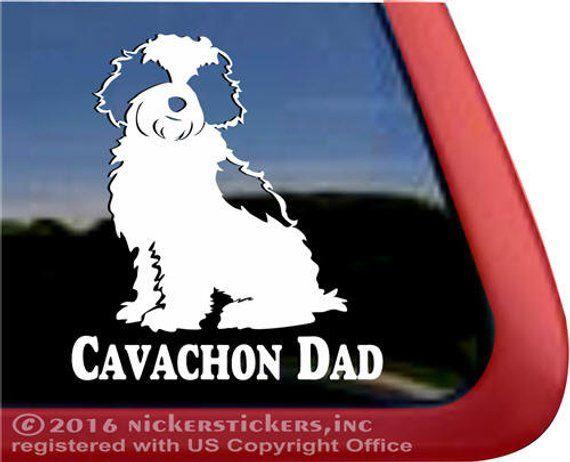 Superieur Cavachon Dad   DC1020DAD   High Quality Adhesive Vinyl Cavalier King  Charles Spaniel Bichon Frise Cr
