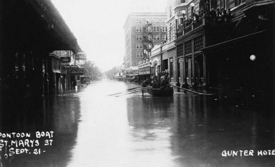 St. Mary's St, 1921 flood