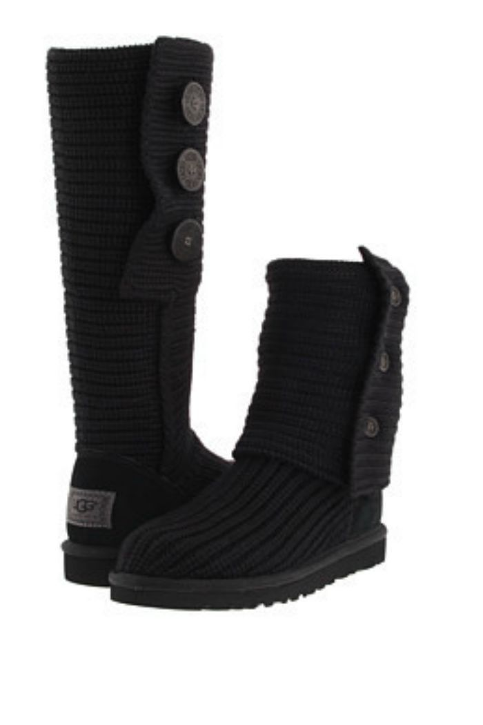 W UGG Classic Cardy Black Love it Want it Pinterest Ugg classic Christmas list 2016 and Winter wear