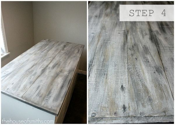 Faux Barn Wood Painting Tutorial in 2019 | Furniture DIY | Painting