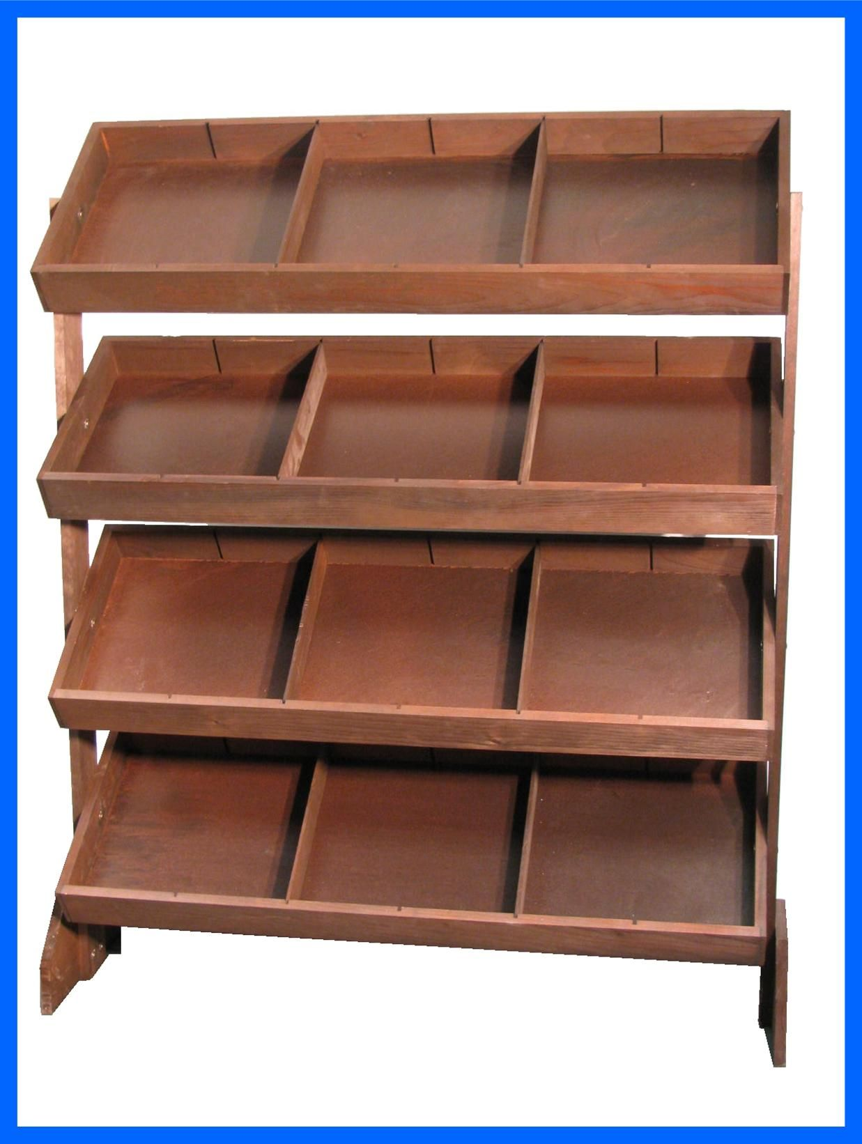 Exhibition Stand Organizer : Item four bin tilt tray display with pack of