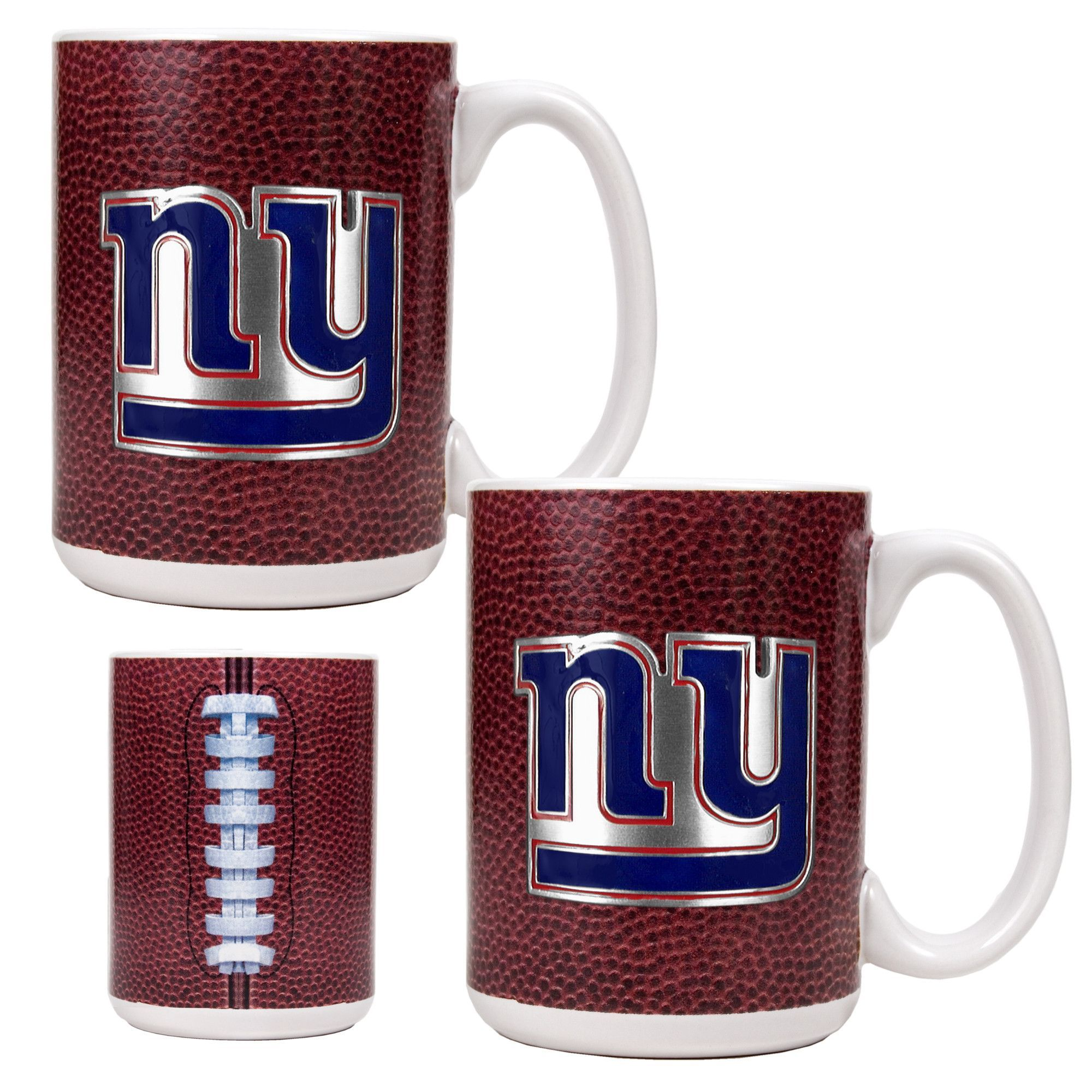 NFL New York Giants 2pc Gameball Coffee Mug Set