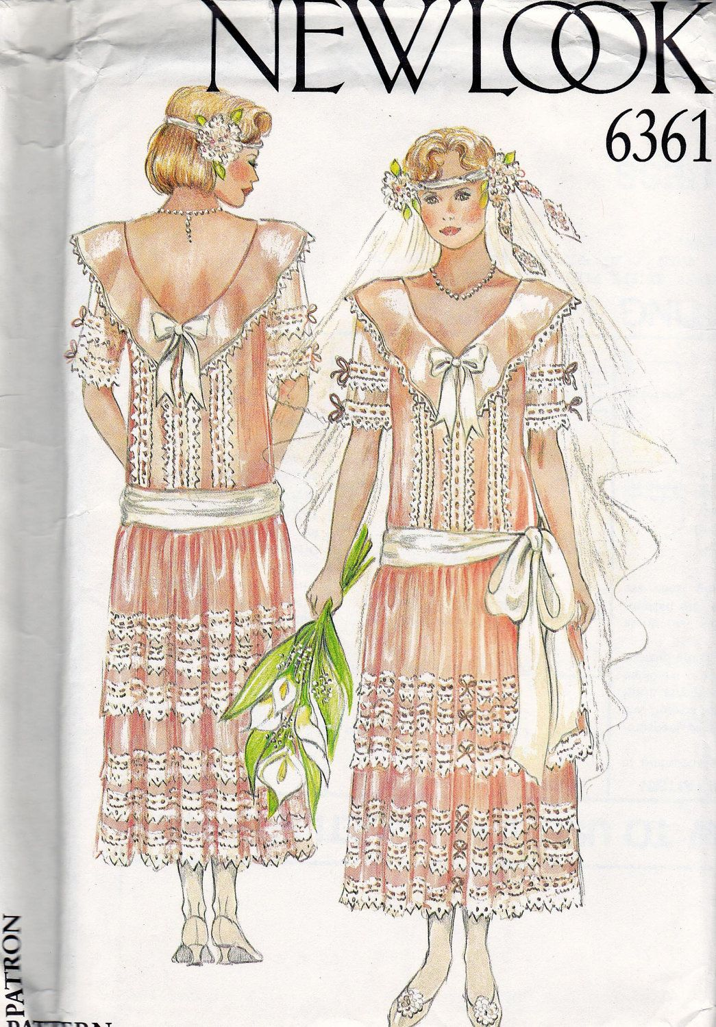 80s Vintage Sewing Pattern Flapper Style Dress or Wedding