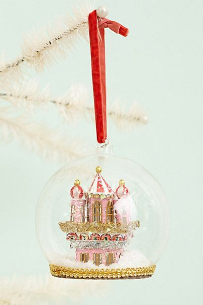 Castle Globe Decoration #anthropologie | Navidad | Pinterest