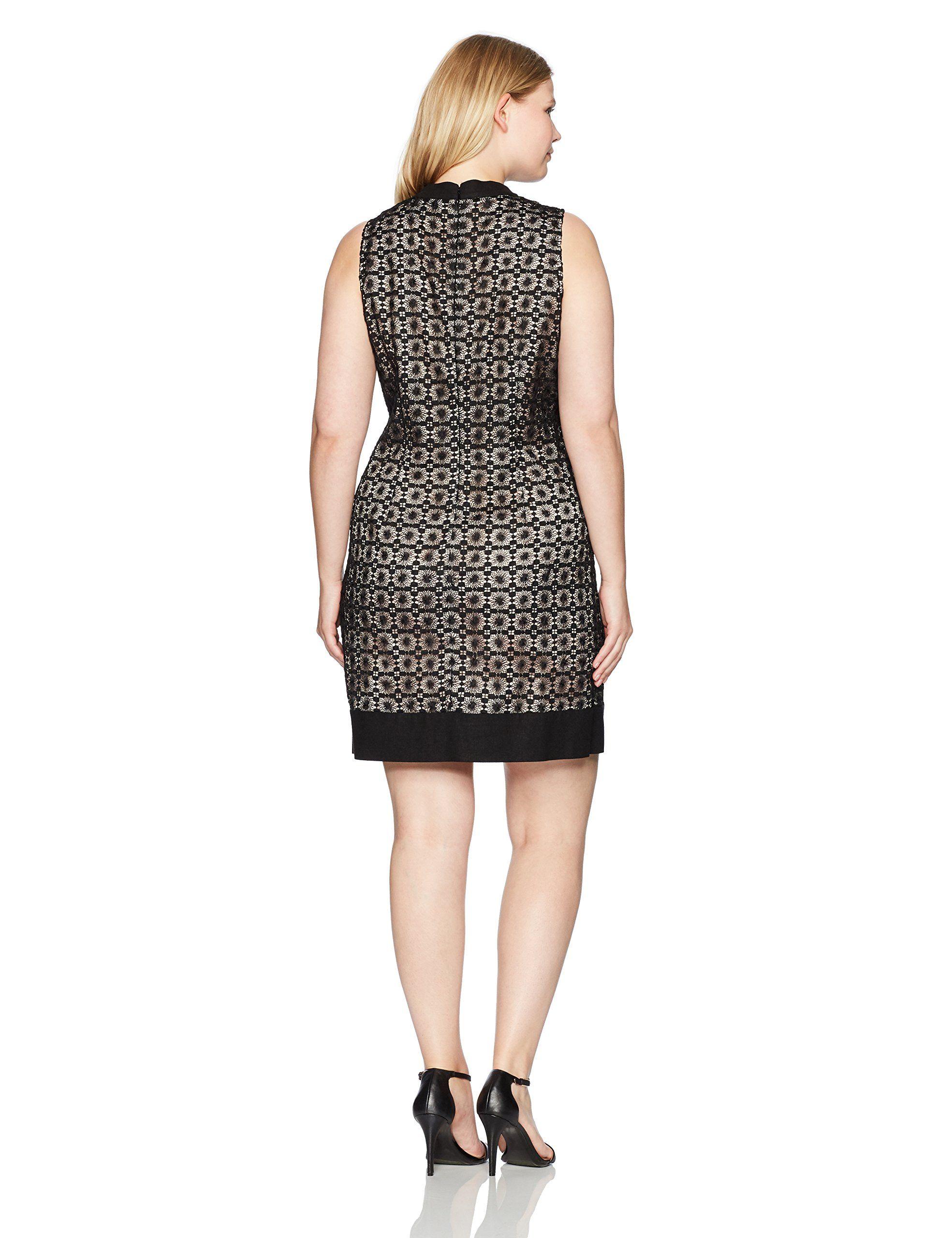 14w Dress Size Shift Pink Jessica Plus Womens Framed Blackls Howard 7IYfygvmb6