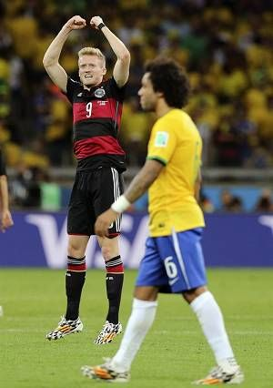 Alemania hizo historia al golear a Brasil