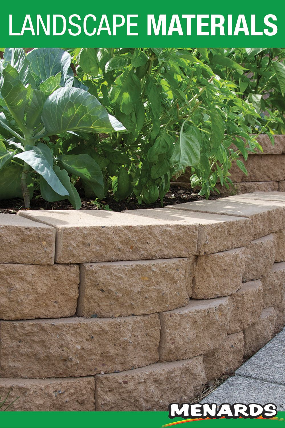 3 1 2 X 11 1 2 Crestone Beveled Retaining Wall Block In 2020 Landscape Materials Garden Wall Retaining Wall