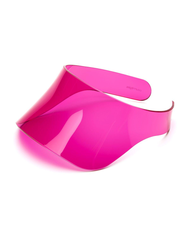 best wholesaler dirt cheap autumn shoes Courreges Fluorescent Plexiglass Over-Eye Sun Visor ...