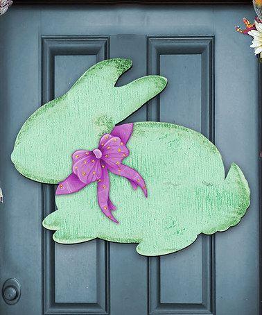 Love this Rustic Green Bunny Door Hanger on #zulily! #zulilyfinds