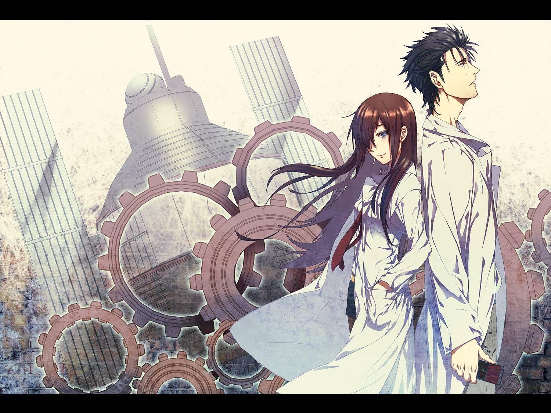 Steins;gate Makise Kurisu Okabe Rintarou 1080p anime