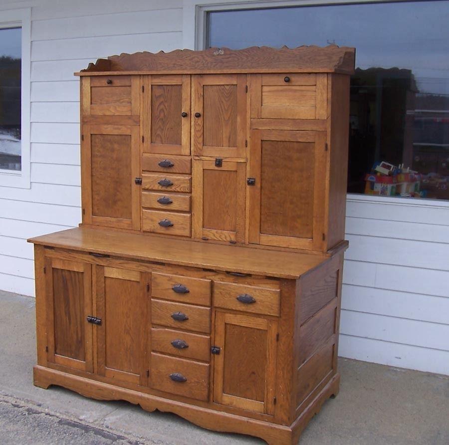 Oak Kitchen Cabinets For Sale: Antique Oak Hoosier Kitchen Baker's Cabinet General
