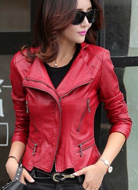 6e5bcd55d5867 2016 Spring Leather Coat Plus Size 5XL Women s Leather Jacket Stand Collar  Short Slim Pink Deri Ceket