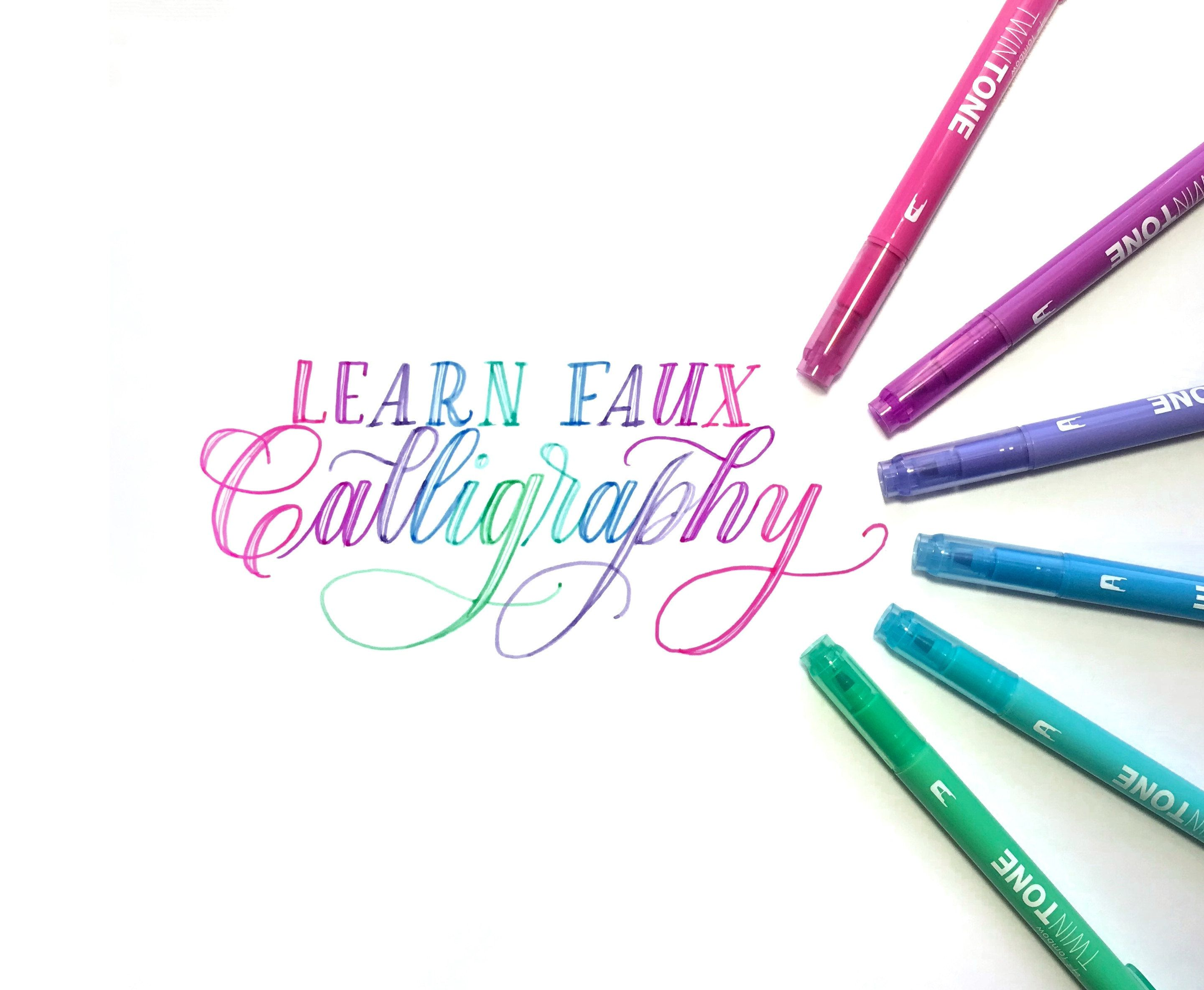 Learn Faux Calligraphy