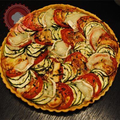 Tarte tomates courgettes et chèvre