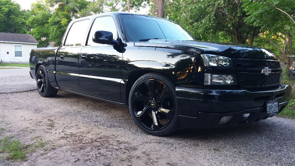 blacked out 2006 chevrolet silverado 1500 lt1 pickup custom custom trucks for sale chevrolet. Black Bedroom Furniture Sets. Home Design Ideas
