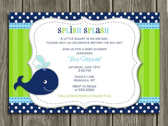 printable preppy whale baby shower invitation | baby boy shower,