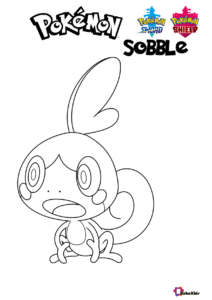 Pokemon Sword And Shield Pokemon Sobble Coloring Pages Coloring Pages Cartoon Coloring Pages Pokemon
