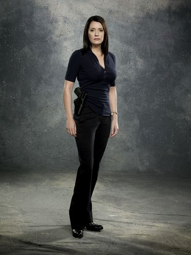 Paget Brewster as Emily Prentiss on the CBS drama CR