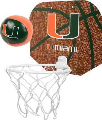 sports shoes c8308 3c78f Miami Hurricanes Softee Basketball Hoop Set | michaeln ...