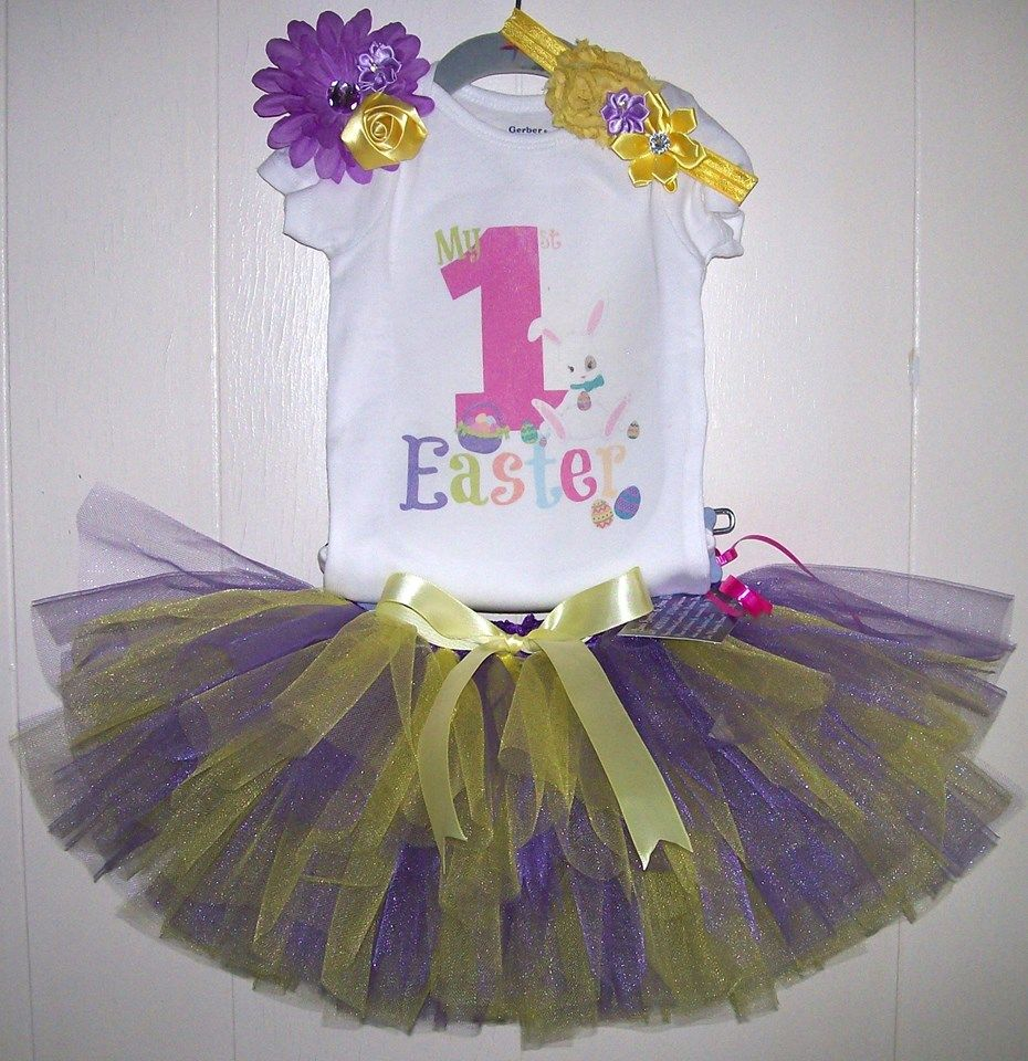 1st Easter Tutu set created by Sparkleshinetutus