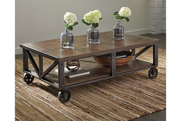 Zenfield Coffee Table By Ashley Homestore Brown Coffee Table Industrial Coffee Table Diy Coffee Table