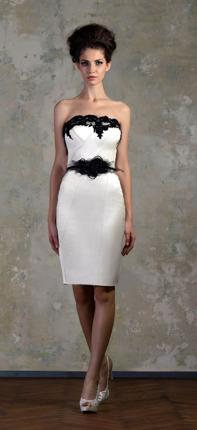 Love Story 2013 By Bien Savvy My Dress Of The Week Belle The Magazine Short White Dress Wedding Short Wedding Dress Black And White Short Dresses [ 1438 x 660 Pixel ]