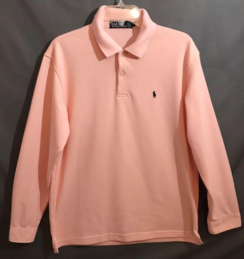8707f1d47 Polo Ralph Lauren Long Sleeve Shirt Men's Size XL - Peach Color ...