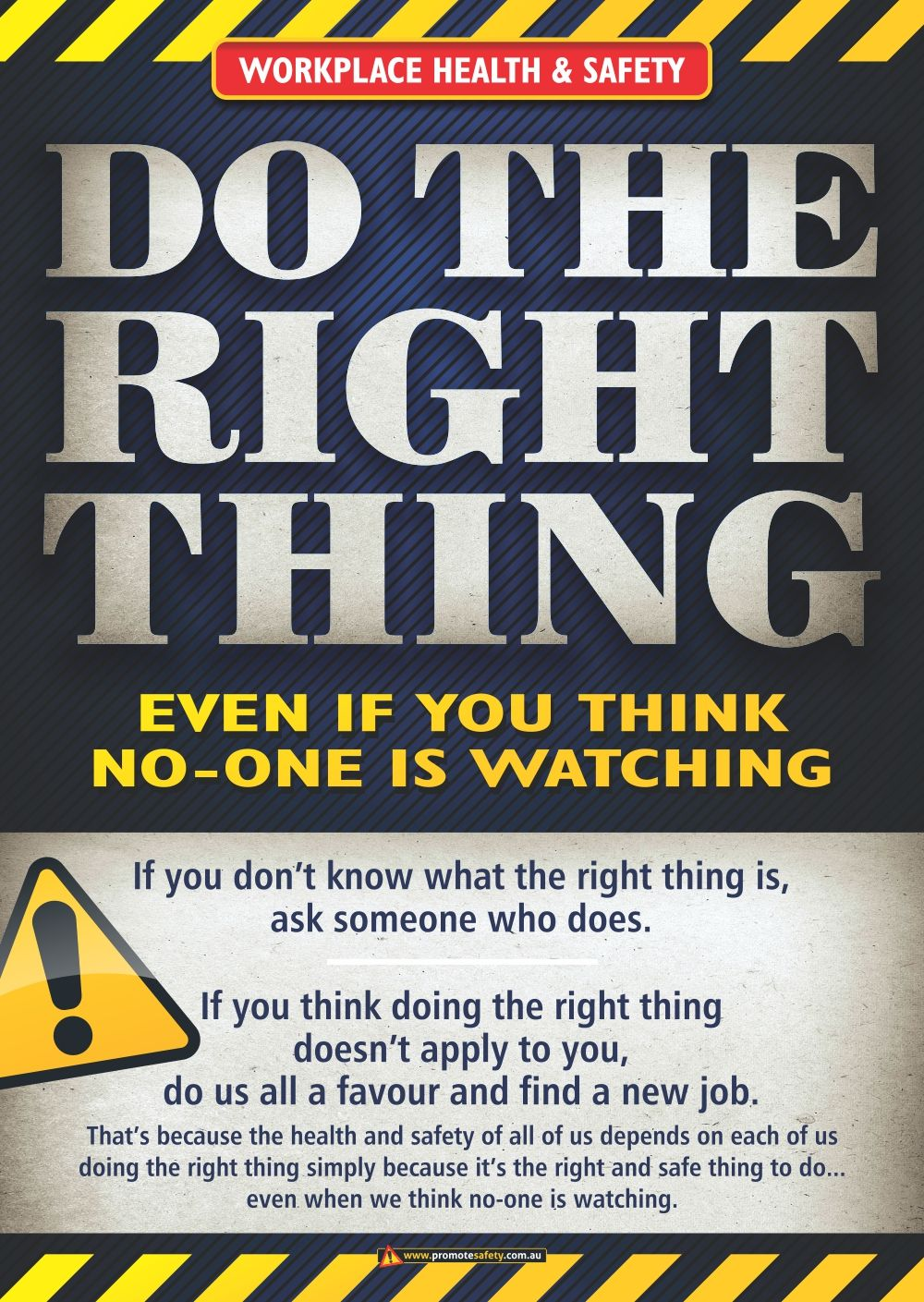 A3 size Workplace Safety Poster emphasising the importance