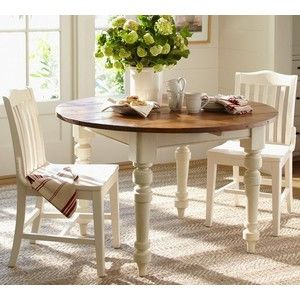 Mom S Pottery Barn Table And 4 Antique White Chairs Dining Table Round Dining Table Kitchen Table Chairs