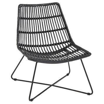 Houten Tuinstoelen Gamma.Loungestoel Rotan Zwart Tuinstoelen Tuinmeubelen Tuin Gamma